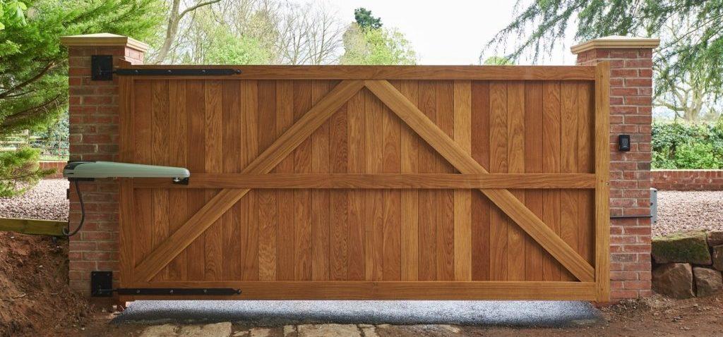درب اتوماتیک چوبی