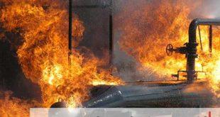 آتش سوزی در پتروشیمی آبادن